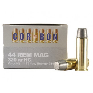 COR-BON Handgun Ammunition .44 Mag 320 gr HC 1175 fps 20/box