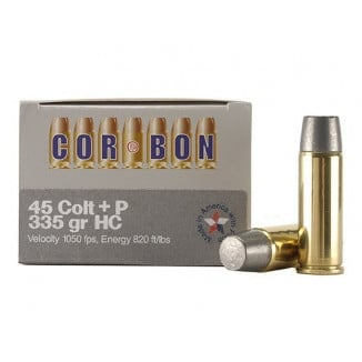 COR-BON Handgun Ammunition .45 Colt 335 gr HC 1050 fps 20/box