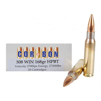 Cor-Bon DPX Hunter Rifle Ammunition  .308 Win 168 gr DPX 2600 fps - 20/box