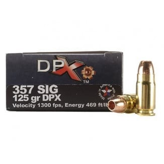 COR-BON Handgun Ammunition .357 SIG 125 gr DPX 1350 fps 20/box