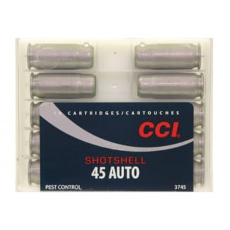 CCI Handgun Shotshells .45 ACP 140 gr #9 shot 1000 fps 10/box