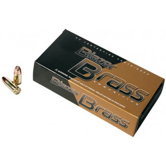 CCI Blazer Brass Handgun Ammunition 9mm Luger 124 gr FMJ 1090 fps 50/box