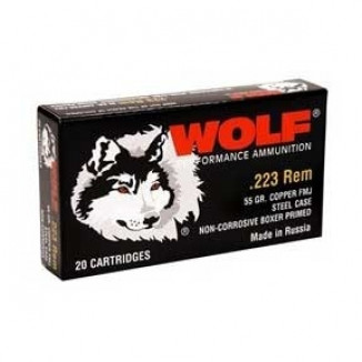 Wolf WPA Military Classic Rifle Ammunition .223 Rem 55 gr FMJ 3241 fps - 20/box