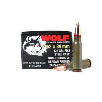Wolf WPA Polyformance Rifle Ammunition 7.62x39mm 123 gr HP 2936 fps - 20/box