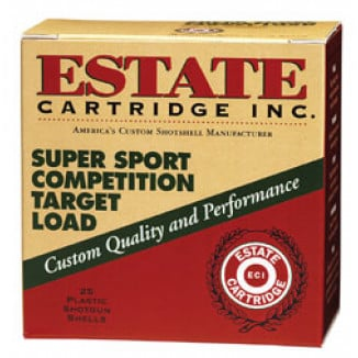 "Estate Cartridge Super Sport 12 ga 2 3/4"" 2 3/4 dr 1 1/8 oz #8 1145 fps - 25/box"