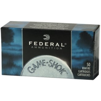 Federal Game-Shok Rimfire Ammunition .22 LR 38 gr CPHP 50/box