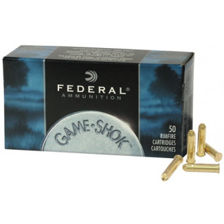 Federal Game-Shok Rimfire Ammunition .22 LR 25 gr #12 50/box