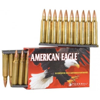 Federal American Eagle Rifle Ammunition .223 Rem 55 gr FMJ 3240 fps - 30/box
