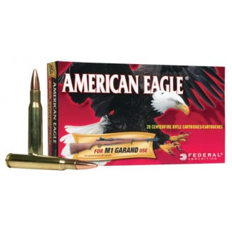 Federal American Eagle Rifle Ammunition .30-06 Sprg 150 gr FMJ 2740 fps - 20/box