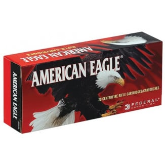 Federal American Eagle Rifle Ammunition .308 Win 150 gr FMJBT 2820 fps - 20/box