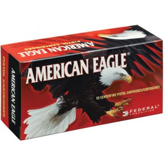 American Eagle Handgun Ammunition .38 Super (+P) 115 gr JHP 1130 fps 50/box