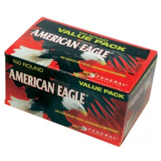 American Eagle Handgun Ammunition 9mm Luger 115 gr FMJ 1180 fps 100/ct