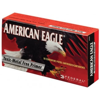 American Eagle IRT Handgun Ammunition 9mm Luger 124 gr TMJ 1120 fps 50/ct