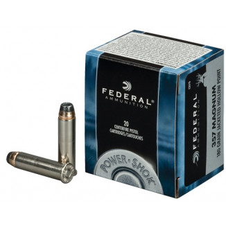 Federal Power-Shok Handgun Ammunition .357 Mag 180 gr JHP 1080 fps 20/box