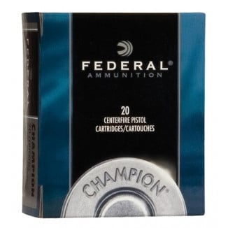 Federal Champion Handgun Ammunition .45 Colt 225 gr HP 830 fps 20/box