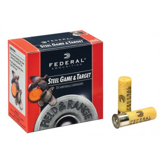 "Federal Field & Range Steel Game & Target Shot Shells 20 ga 2-3/4""  3/4 oz #6 25/Box"