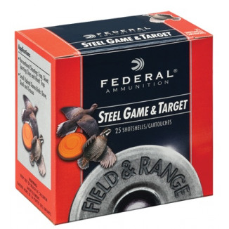 "Federal Field & Range Steel Game & Target Shot Shells 28 ga 2-3/4""  5/8 oz #7 25/Box"