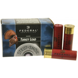 "Federal Strut-Shok Turkey 12 ga 3"" MAX 1 7/8 oz #4  - 10/box"