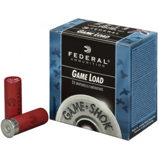 "Federal Game-Shok Upland Game Load 20 ga 2 3/4"" 2 1/2 dr 7/8 oz #6,7.5,8 1210 fps - 25/box"