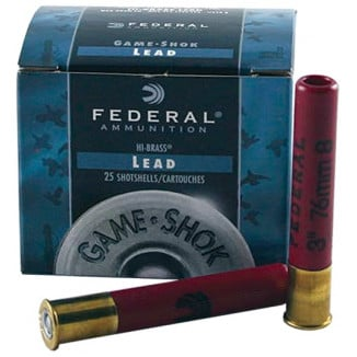 "Federal Game-Shok Hi-Brass Load .410 ga 3"" MAX 11/16 oz #4,5,6,7.5,8 1135 fps - 25/box"