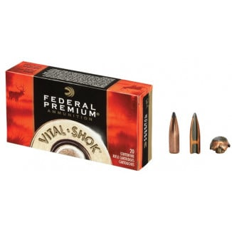 Federal Premium Vital-Shok Rifle Ammunition .25-06 Rem 115 gr PT 3030 fps - 20/box