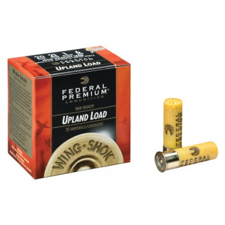 "Federal Premium Wing-Shok Magnum 20 ga 3"" 2 3/4 dr 1 1/4 oz #4,6 1300 fps - 25/box"