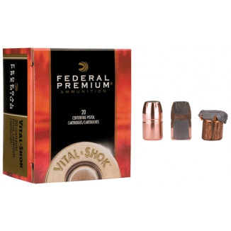 Federal Premium Vital-Shok Handgun Ammunition .357 Mag 180 gr SAF 1160 fps 20/box