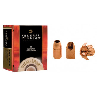 Federal Premium Vital-Shok Handgun Ammunition .44 Mag 225 gr BXP 1280 fps 20/box