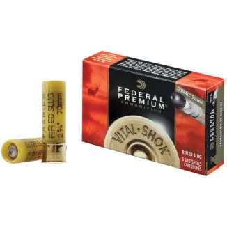 "Federal Premium Vital-Shok TruBall Rifled Slug 20 ga 2 3/4""  3/4 oz Slug 1600 fps - 5/box"