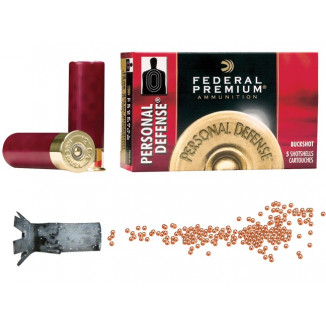 "Federal Premium Personal Defense 12 ga 2 3/4"" MAX 34 plts #4B 1100 fps - 5/box"