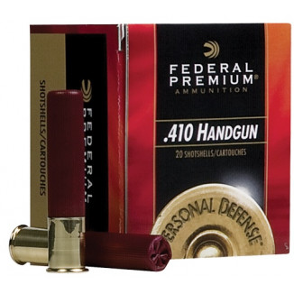 "Federal Premium Personal Defense 410 Handgun Shotshell Ammunition - Judge .410 ga 2 1/2""  4 plts #000 850 fps - 20/box"