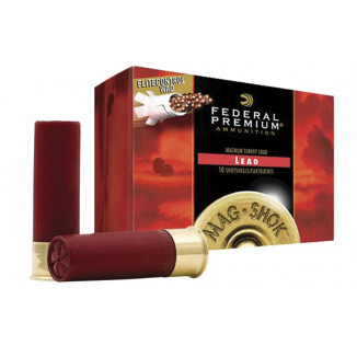 "Federal Mag-Shok Lead 12 ga 3 1/4"" 4 1/4 dr 2 1/4 oz #4 1150 fps - 10/box"