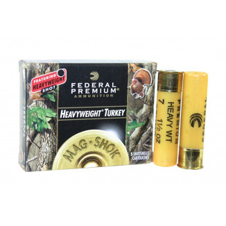 "Federal Mag-Shok Turkey Load 20 ga 3""  1 1/2 oz #7 1100 fps - 5/box"