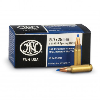 FNH USA 5.7x28mm 40 gr V-Max Handgun Ammo - 50/box