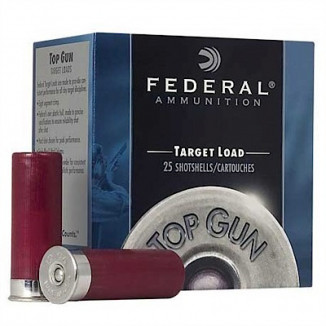 "Federal Top Gun Target Shotshell 12 ga 2-3/4""  7/8 oz #8 1200 fps 25/Box"