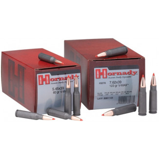 Hornady Varmint Express Rifle  Ammunition 5.45x39 60 gr V-MAX 2495 fps - 50/box