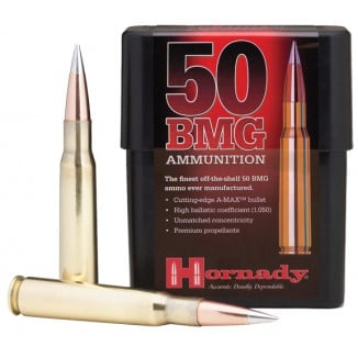 Hornady Match Rifle Ammunition .50 BMG 750 gr A-MAX 2820 fps - 10/box