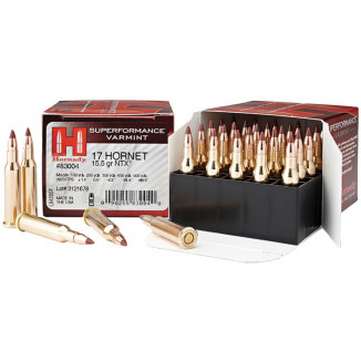 Hornady Superformance Rifle Ammunition .17 Hornet 15.5 gr NTX 3870 fps - 20/box