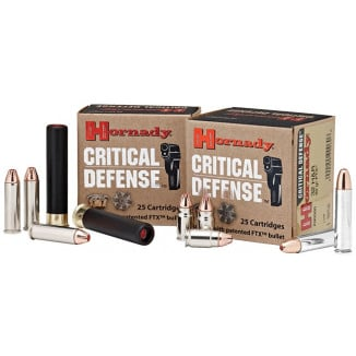 Hornady Critical Defense Handgun Ammo .32 H&R Mag 80 gr FTX 1150 fps 25/box
