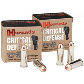 Hornady Critical Defense Handgun Ammo .44 Spl 165 gr FTX 900 fps 20/box