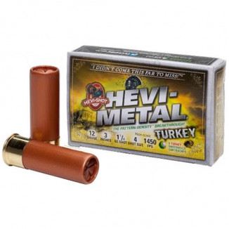 "HEVI-Shot HEVI-Metal Turkey 12 ga 3""  1 1/4 oz #4,6 1450 fps - 5/box"