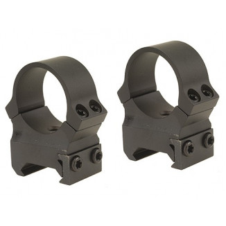"""Leupold 2-Piece PRW Weaver Style Perma-Rings Fits QRW Bases 1"""", High, Matte"""