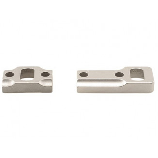 Leupold 2-Piece Dual Dovetail Base - Browning A-Bolt Reversible Front, Silver