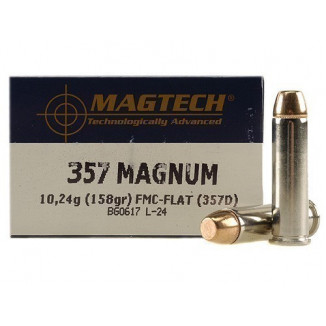 MagTech Handgun Ammunition .357 Mag 158 gr FMJ 1235 fps 50/box