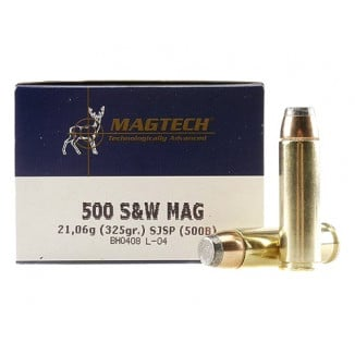 MagTech Handgun Ammunition .500 S&W 325 gr JSP 1801 fps 20/box