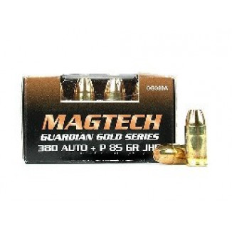 MagTech Guardian Gold .380 ACP +P 85 gr JHP 1082 fps 20/box