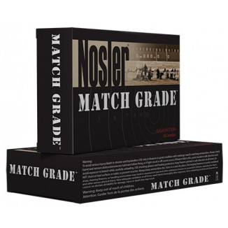 Nosler Match Grade Rifle Ammunition .338 Lapua Mag. 300gr CC 20/Box