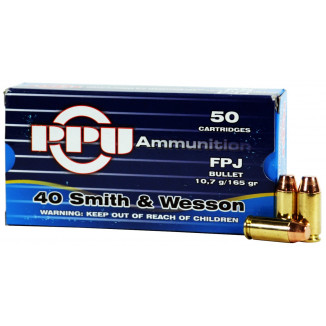 PPU Handgun Ammunition .40 S&W  FPJ  50/box