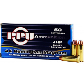 PPU Handgun Ammunition .44 Mag  240 gr HP 50/ct