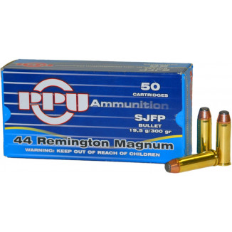 PPU Handgun Ammunition .44 Mag  SJFP  50/box